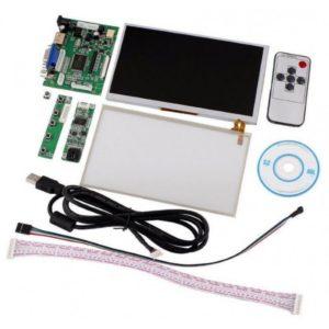 "Modulo LCD 7"" TFT Táctil 1080P HDMI + VGA + 2AV para Raspberry Pi"