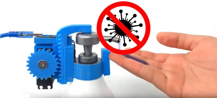 Dispensador automático gel antibacterial
